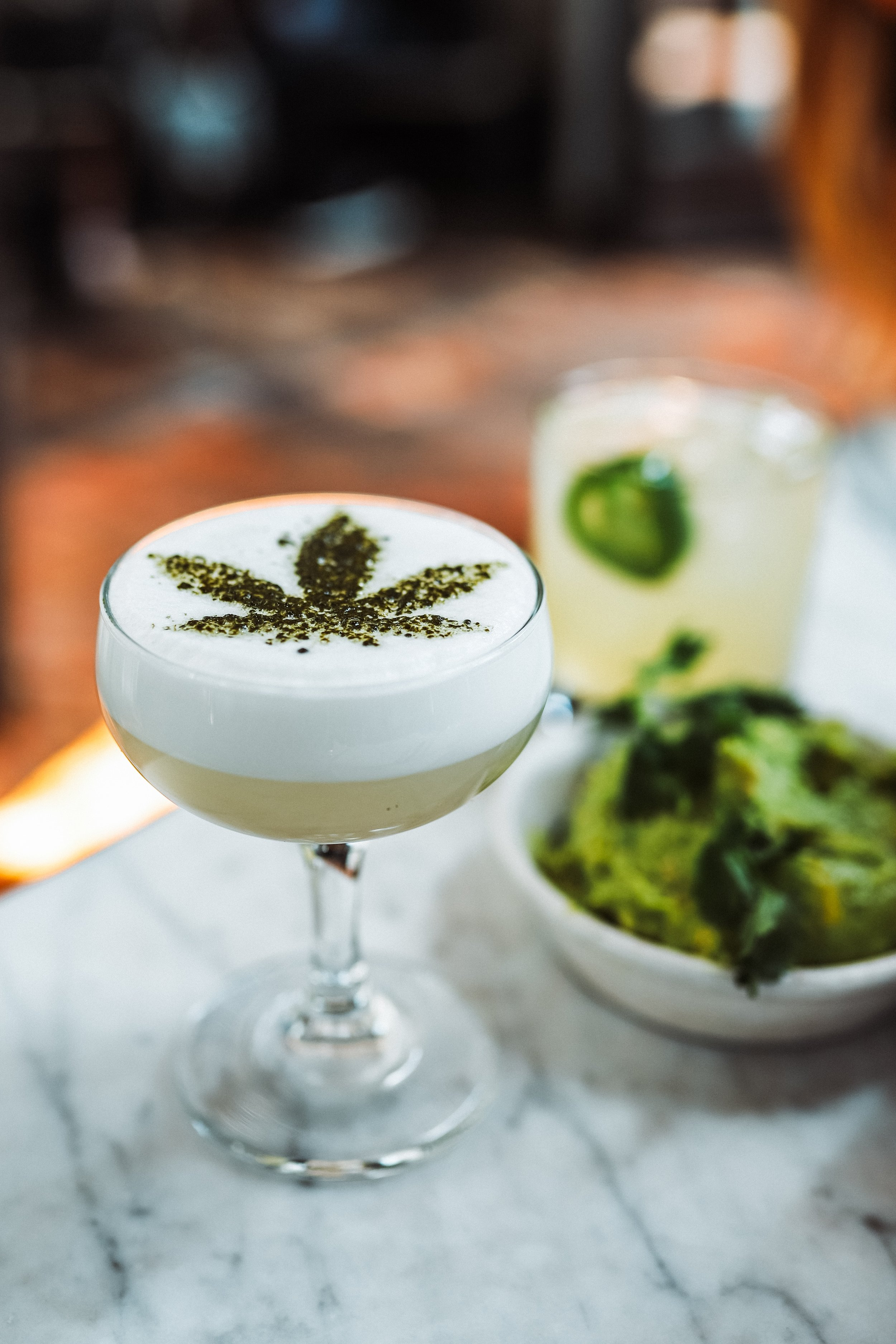 PHOTO COURTESY | Justin Aikin // CBD Handcrafted Cocktail at Gracias Madre in West Hollywood