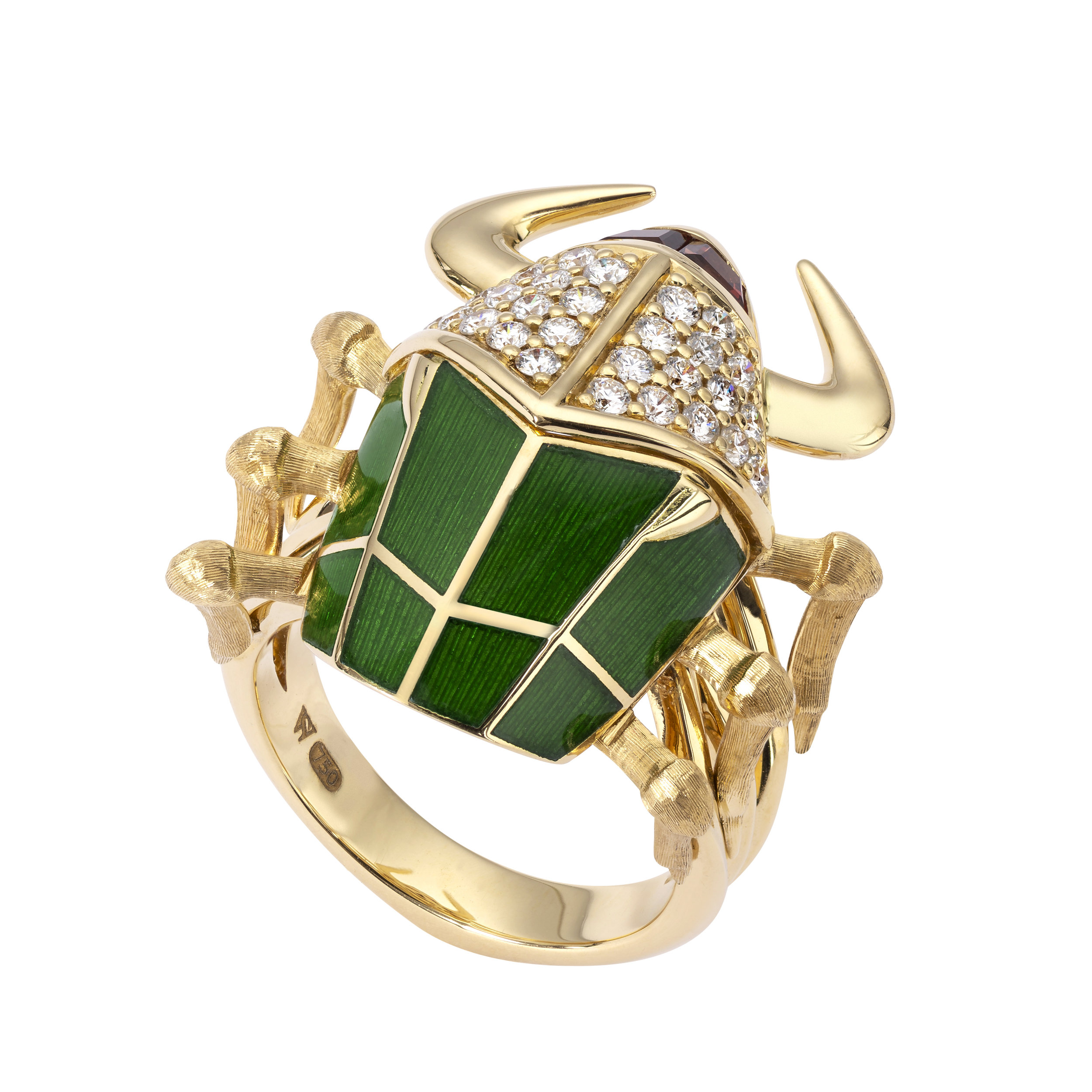 STEPHEN WEBSTER JEWELLERY | Jitterbug Toro Beetle Enamel Ring; $4,500 |