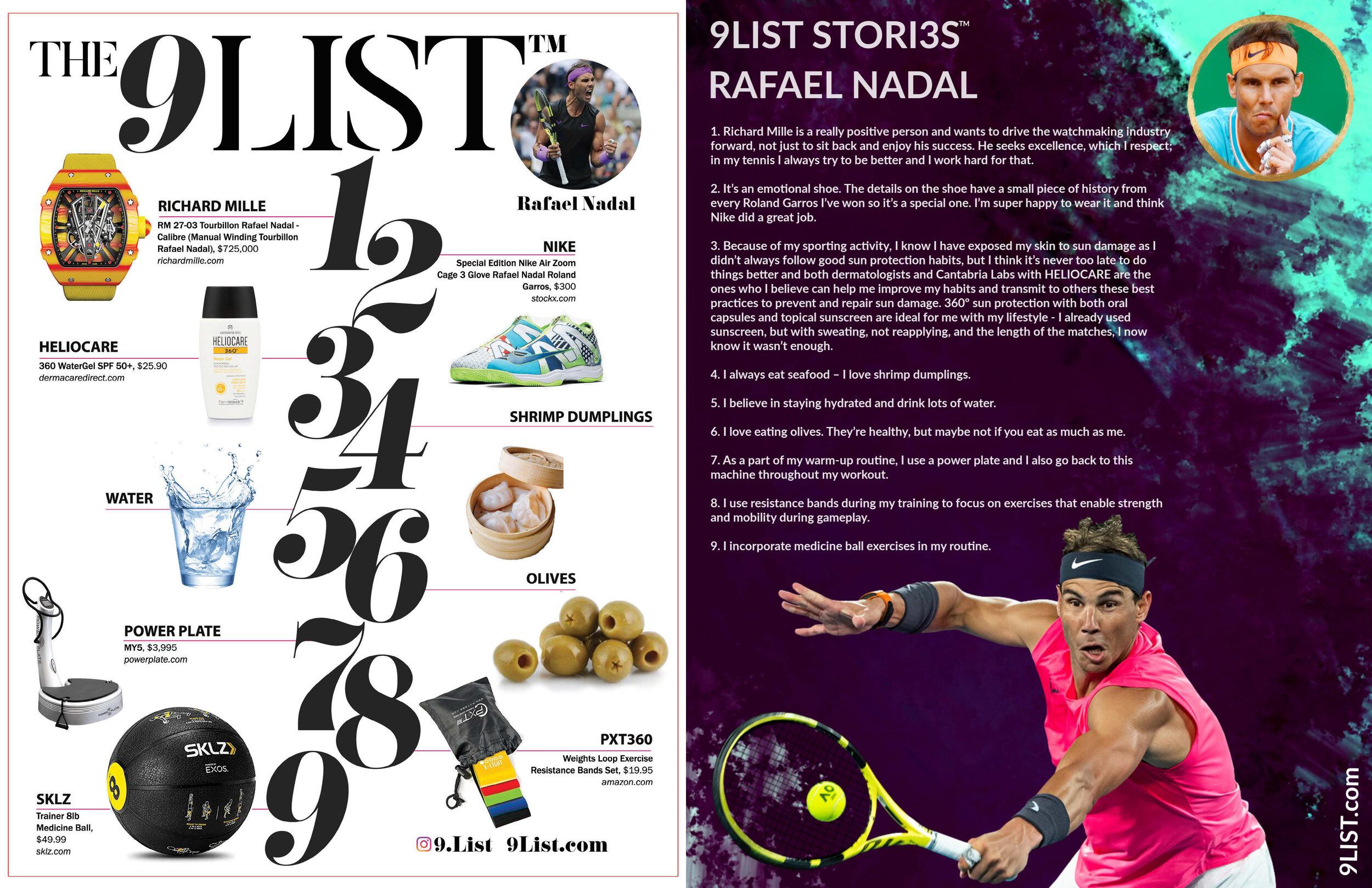 9list Stori3s Rafael Nadal Athleisure Mag Athleisure Culture