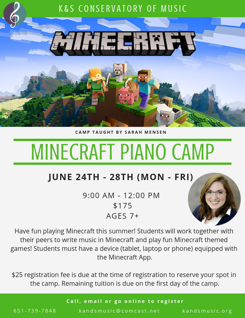 K&S Conservatory of Music - Minecraft Piano Camp
