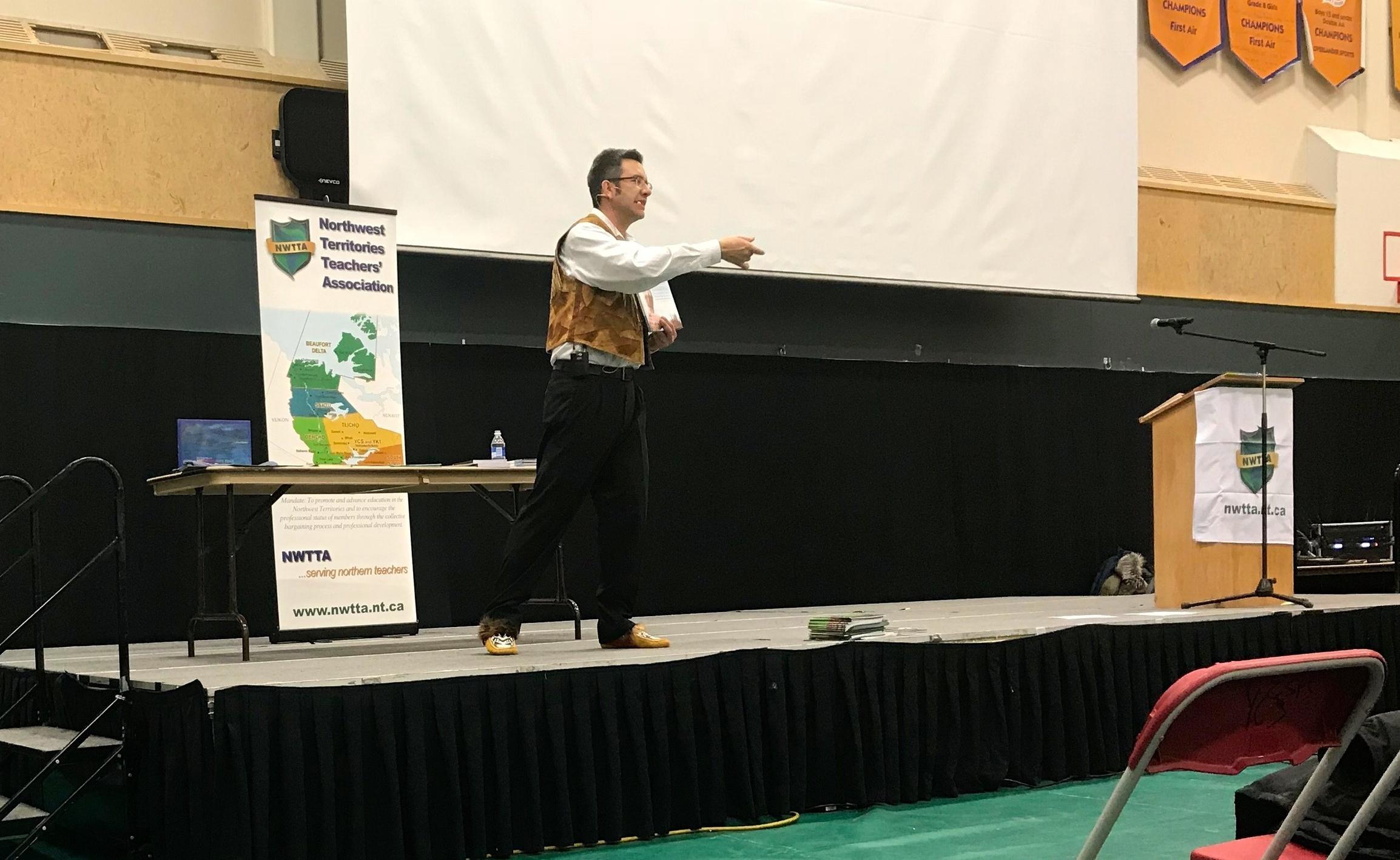 Keynote speaker Richard Van Camp