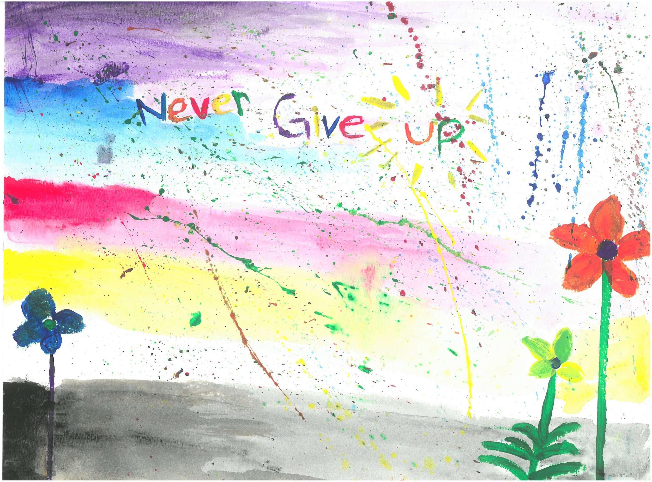 Artwork by a student at St. Nicholas Junior High, Edmonton, Alberta