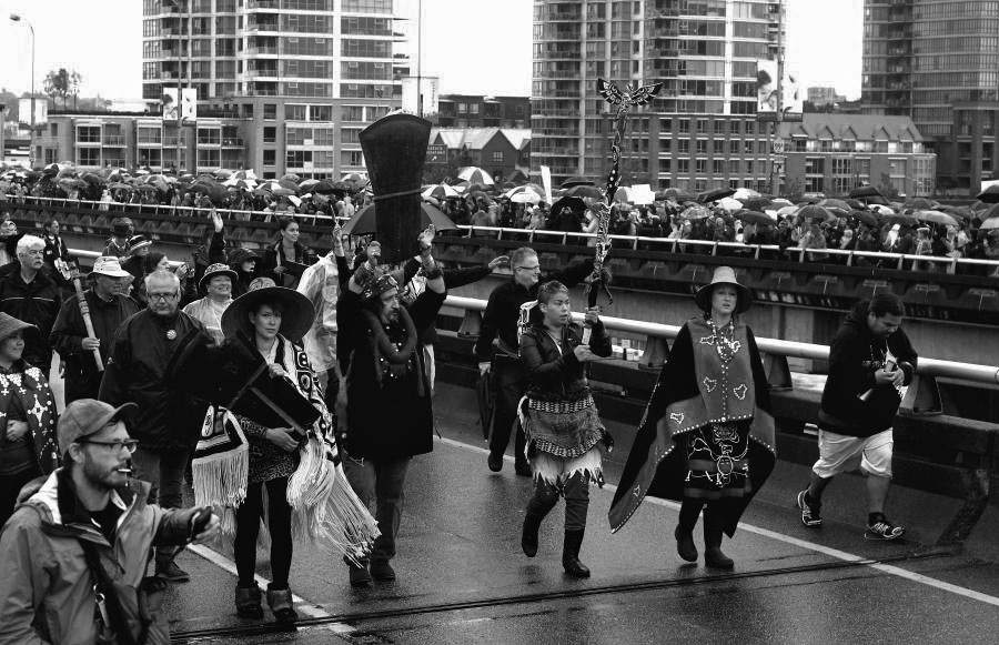 Walk for Reconciliation through downtown Vancouver, September 2013. Image from the TRC Final Report.