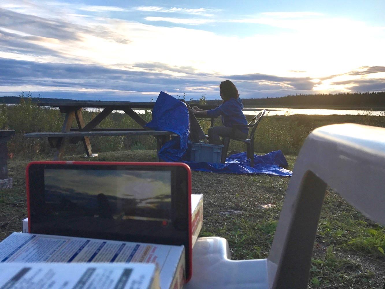 Hands On Media workshop - Bennet Field, Northwest Territories, 2017