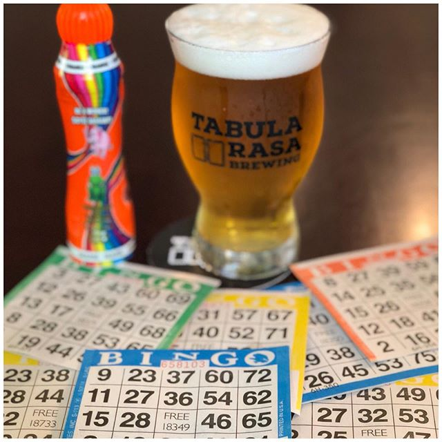 Bingo Night starts at 7pm tonight!! It is free to play to all ages and prizes include free beer (for those of legal age of course)!!! #tabularasabrewing #drinklocal #jaxbeer #jaxbeersociety #drinkjax #drinkduval #drinkcraftbeer #jaxaletrail #jacksonville #seeyouintheyard #visitjax #onlyinjax #drinkitinjax #duuuval #duuval #dtwd #JAXChamber #5pointsjax #riversidejax #904happyhour #jaxhappyhours #jaxfray  #jaxcraftbeer #flbeer #duval #jax #jaxrailyard #tabularasaslateclub #bingo
