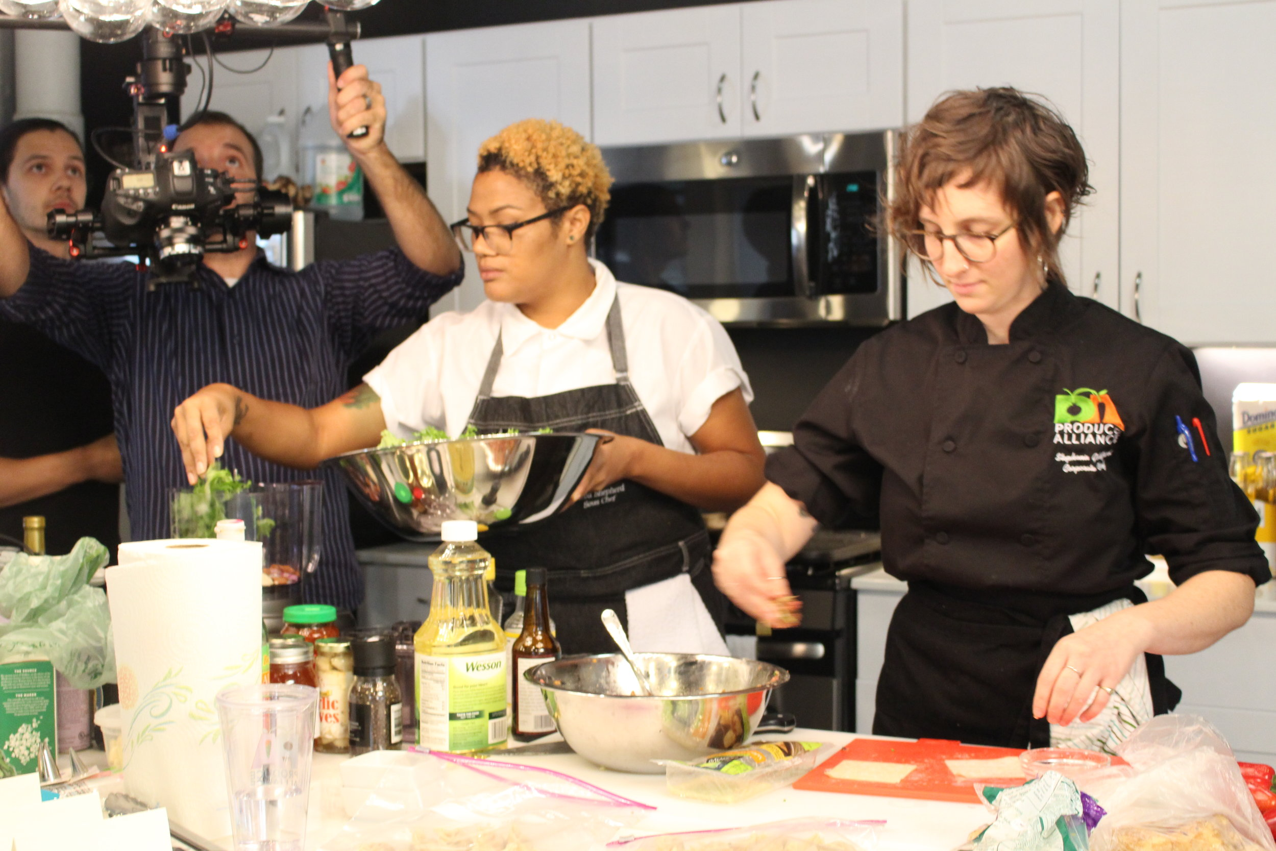 PA Corporate Chef Stephanie Goldfarb (Right) & Chef Nariba Shepard (Left)
