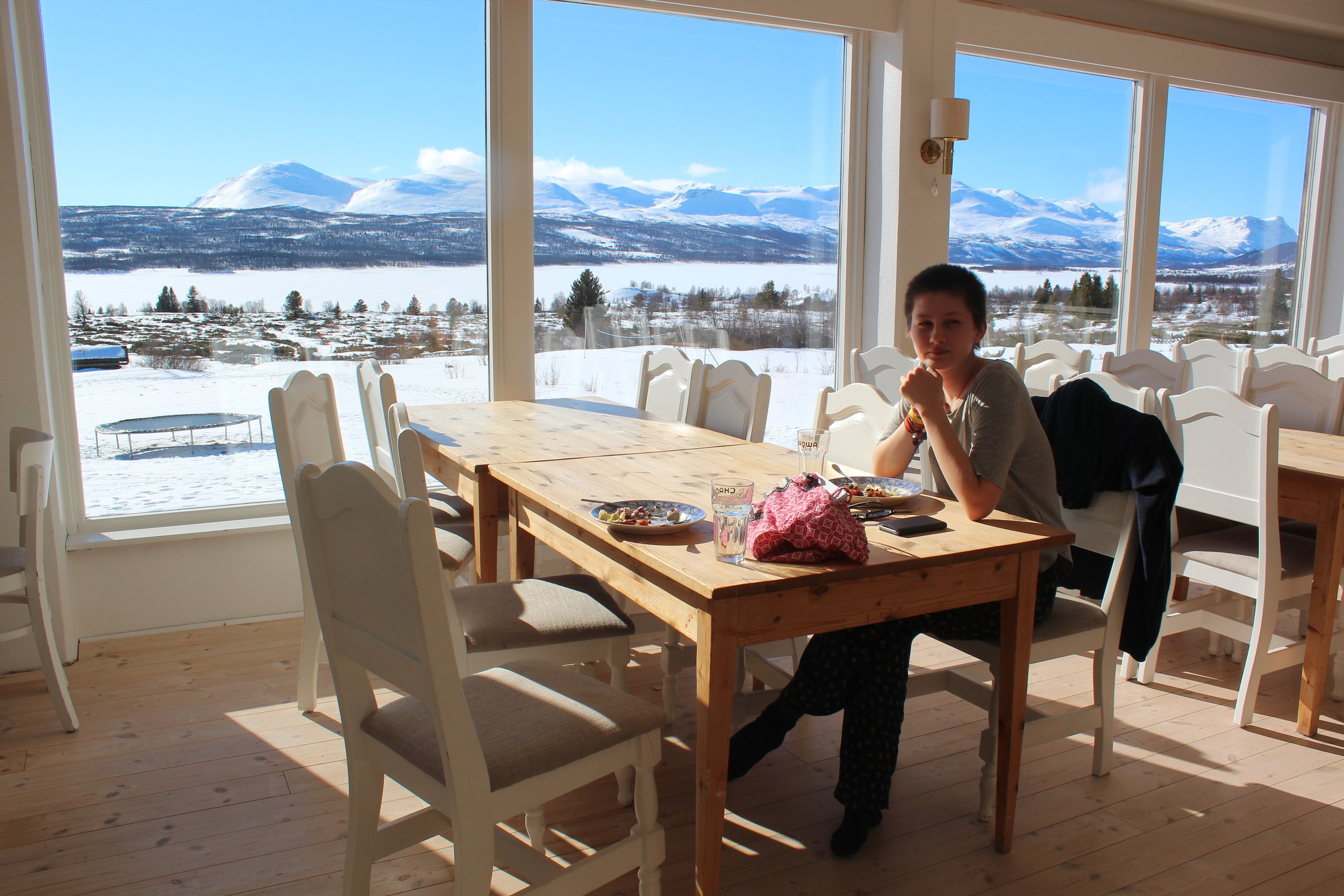 Lunch with a view. Nøsen serves vegetarian food.