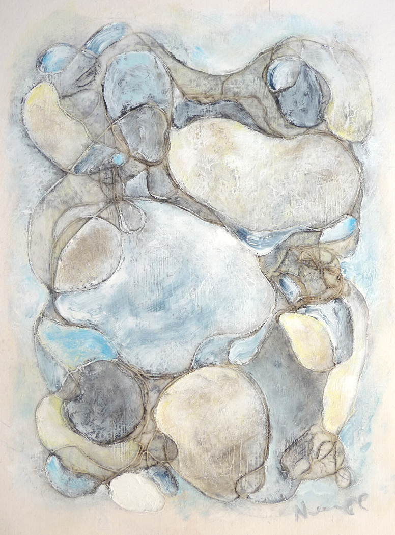 Organic I ,2013. Mixed media on paper. 14 x 11 inches (35.6 x 27.9 cm)