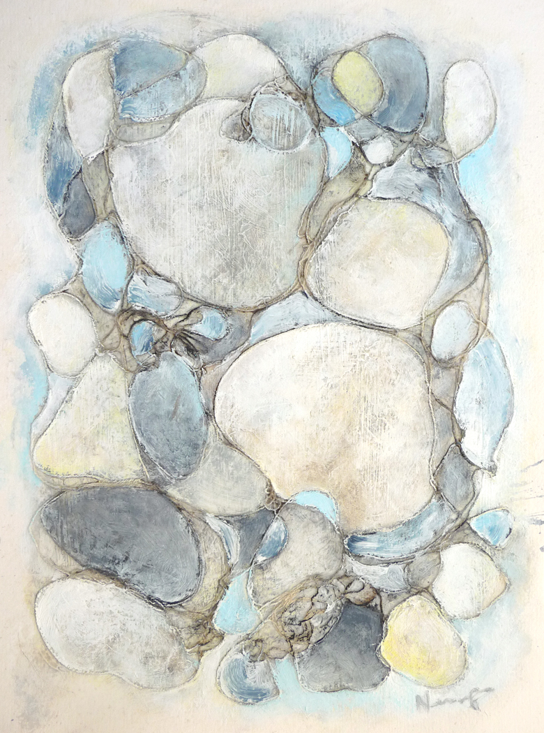 Organic II ,2013. Mixed media on paper. 14 x 11 inches (35.6 x 27.9 cm)