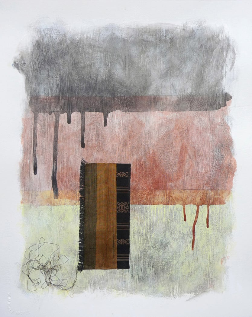 Japanese Silk II, 2010. Mixed media on paper. 20 x 16 inches (50.8 x 40.6 cm)