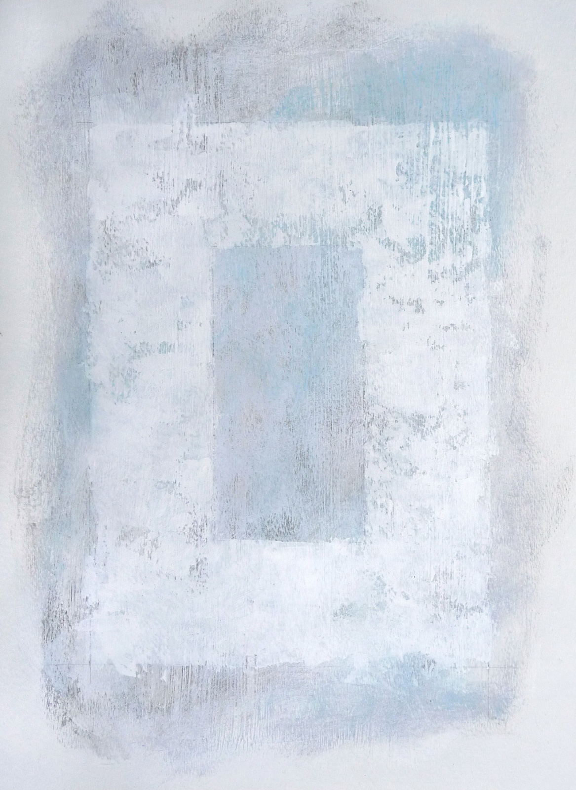 Svinøya in White III  , 2016. Mixed media on paper. 15 x 11 inches (38.1 x 27.9 cm)