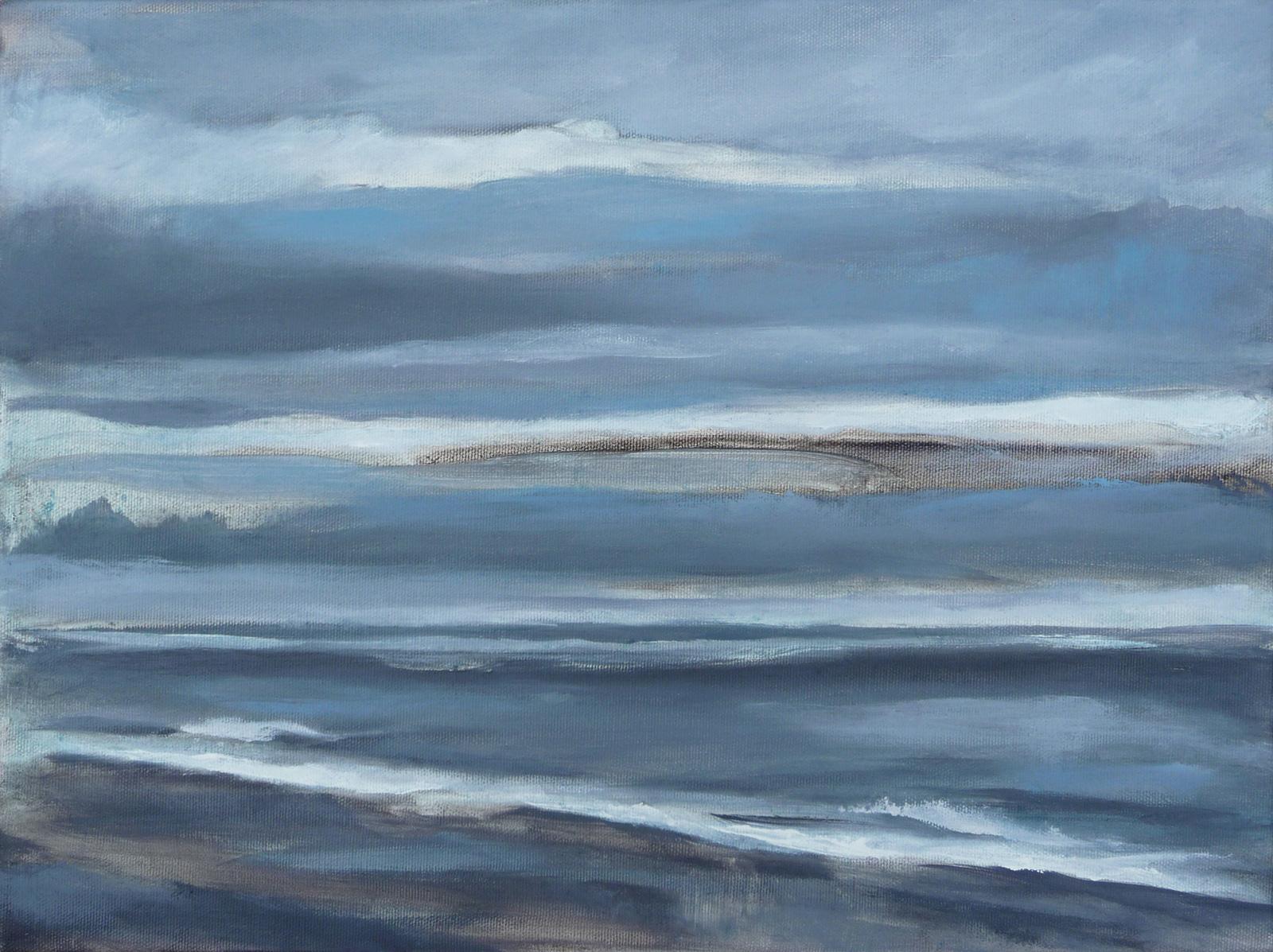 Shoreline II , 2018. Oil on canvas. 12x16 inches