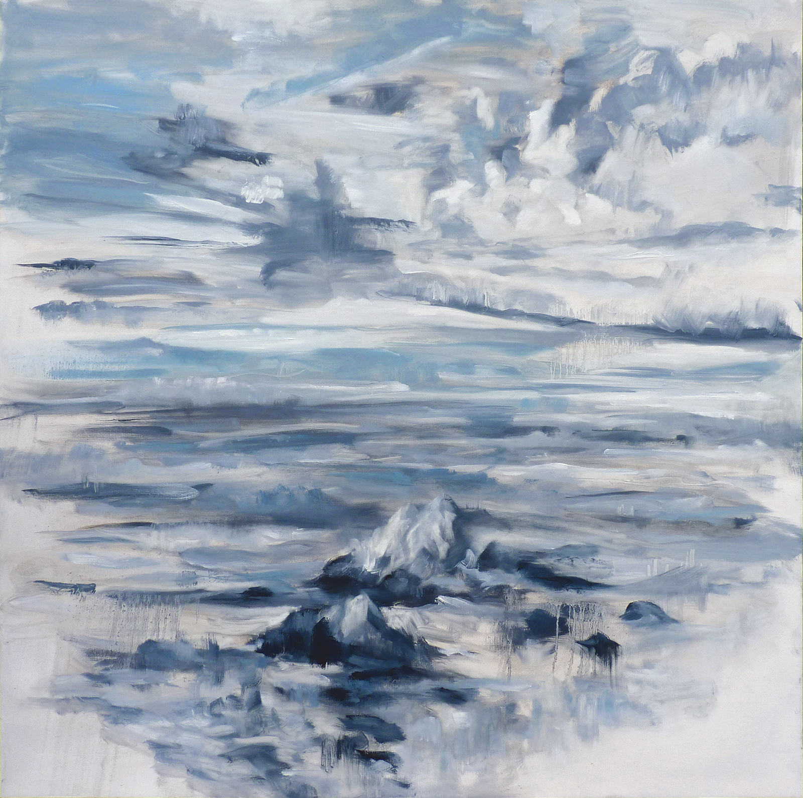 Dappled Sky , 2019. Oil on canvas. 48x48 inches (121.9 x 121.9 cm)