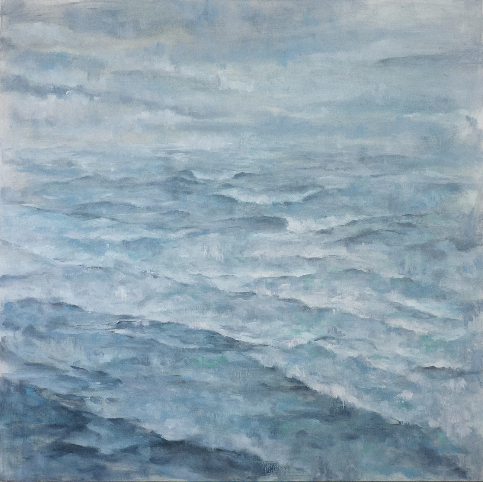 Lost Horizon , 2019. Oil on canvas. 48x48 inches