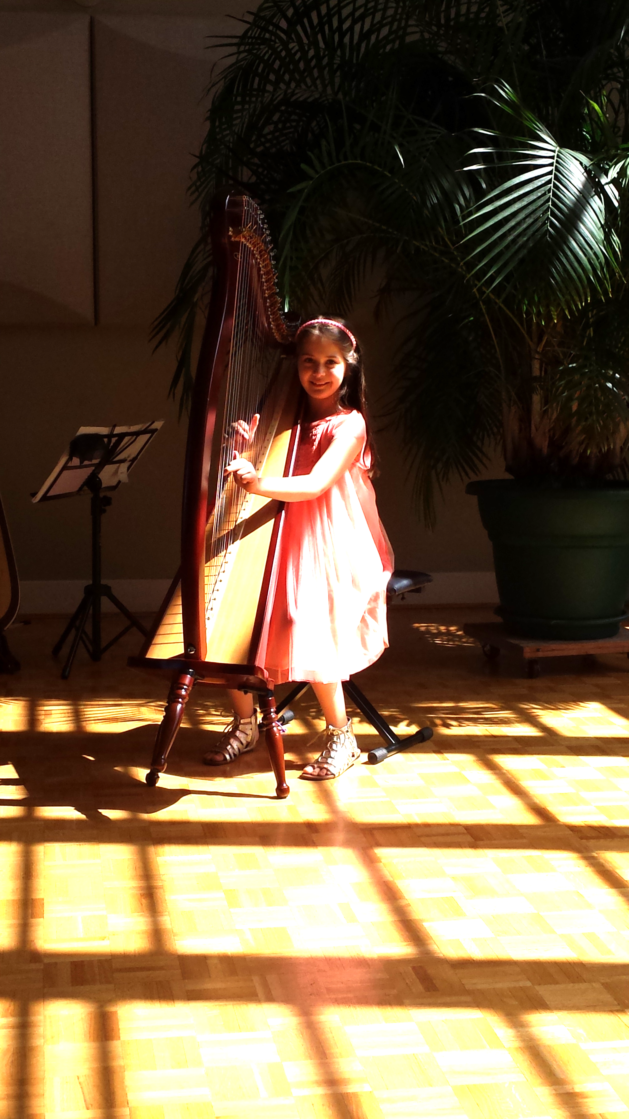 ONE OF MY HARP STUDENTS