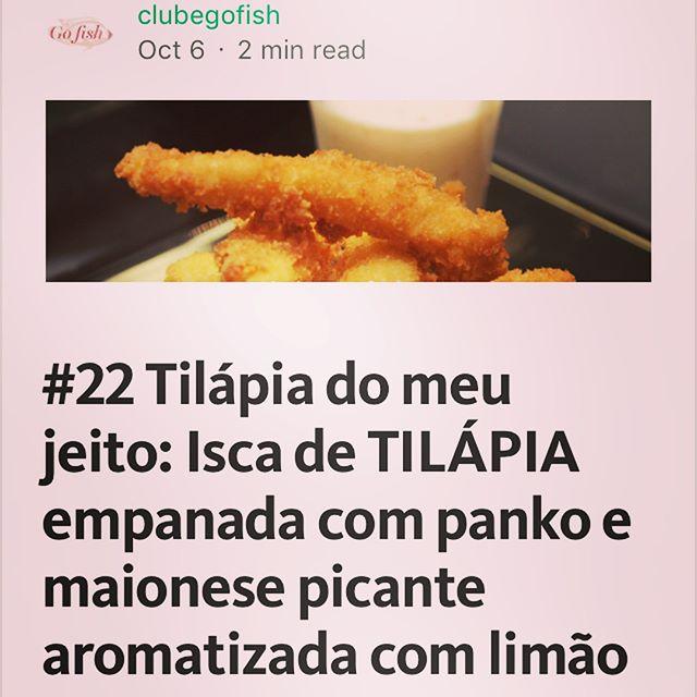 Receita nova no blog!!😉🐟🐟🐟 Isca de filé de tilápia... é uma delícia! #vidasaudavel #leve #boaforma #peixe #tilapiaemBH #comidaboa #comidadeverdade #instafood #gofish #clube