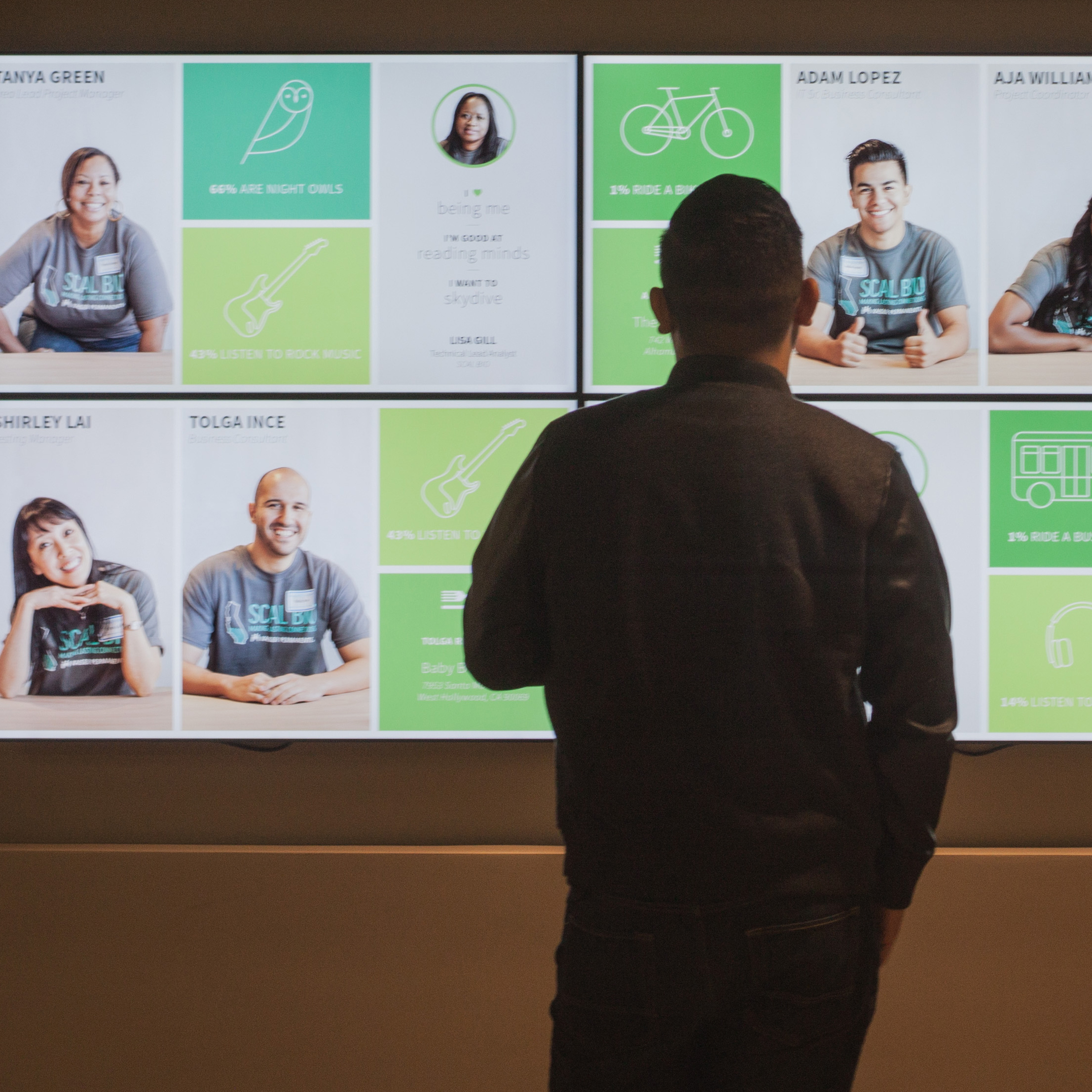 FACEWALL   Creating a sense of connectedness in the workplace.