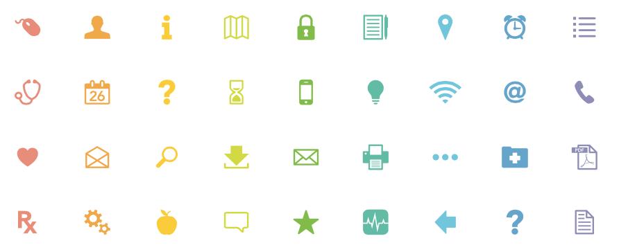 A sampling of KP icons.