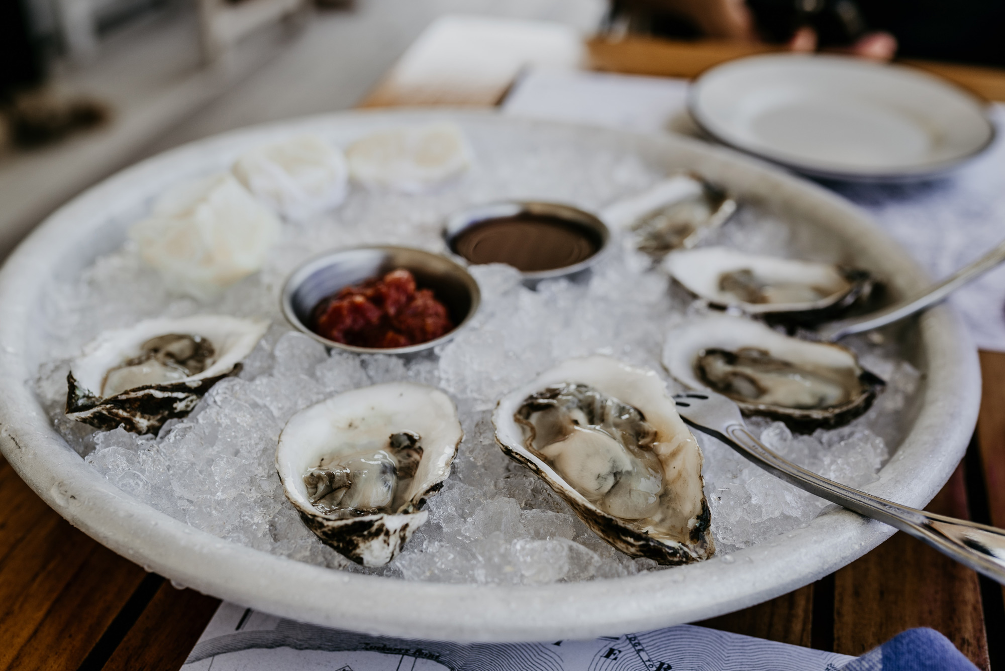 Fresh oysters from our pristine waterways