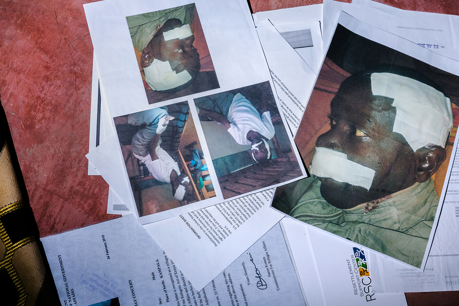 Images from S.'s attack. Just a few weeks ago, S. was resettled in the United States.