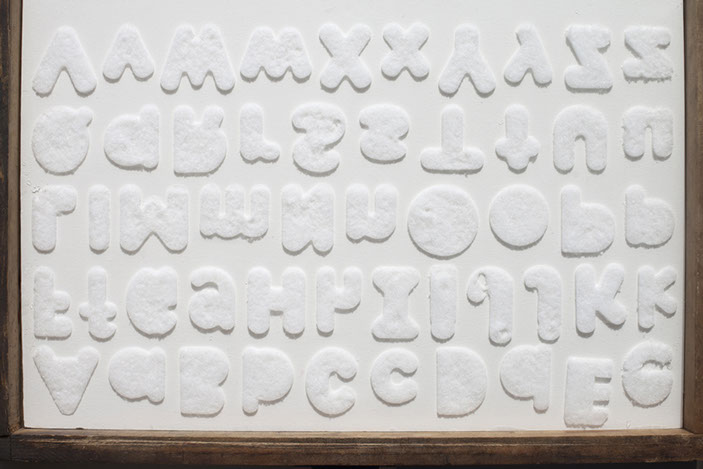 Alphabets, 2014, from  On White