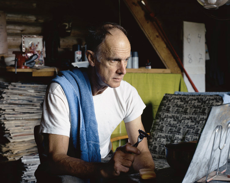 Tom Shaving, Guilford, Maine, from  Off the Grid