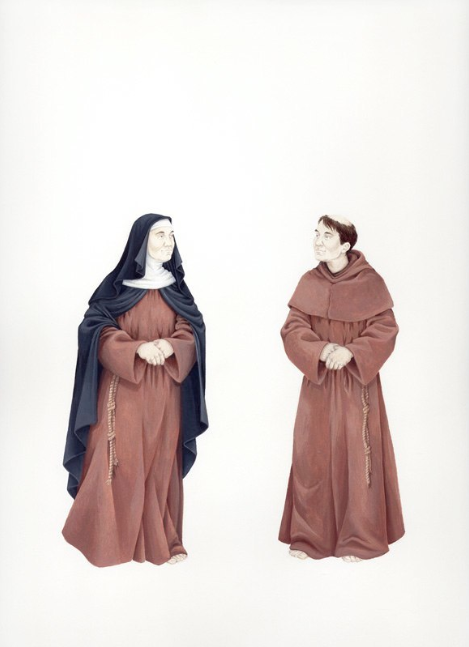 Self-Portrait as a Nun or a Monk, circa 1250 , 2010, from  The Handsome and the Holy