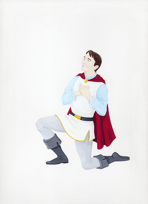 Self-Portrait as Prince Charming, 2009, from  The Handsome and the Holy