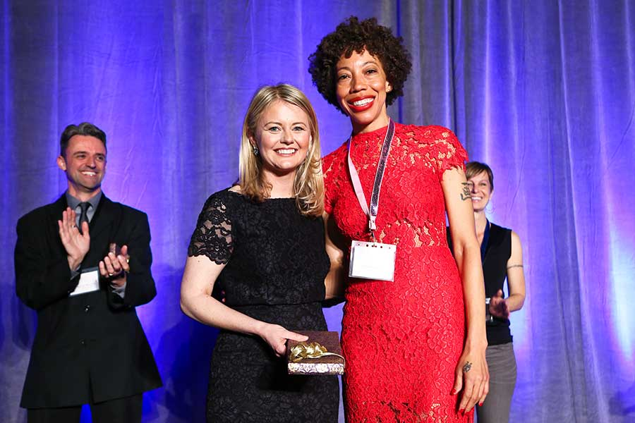 Dorothy Moss and Outwin 2016 first prize winner Amy Sherald