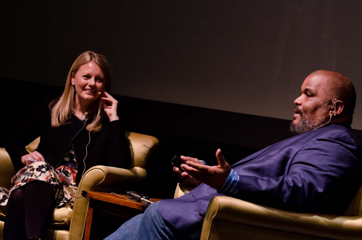 Dorothy Moss in conversation with photographer Dawoud Bey, one of the jurors for  The Outwin 2016