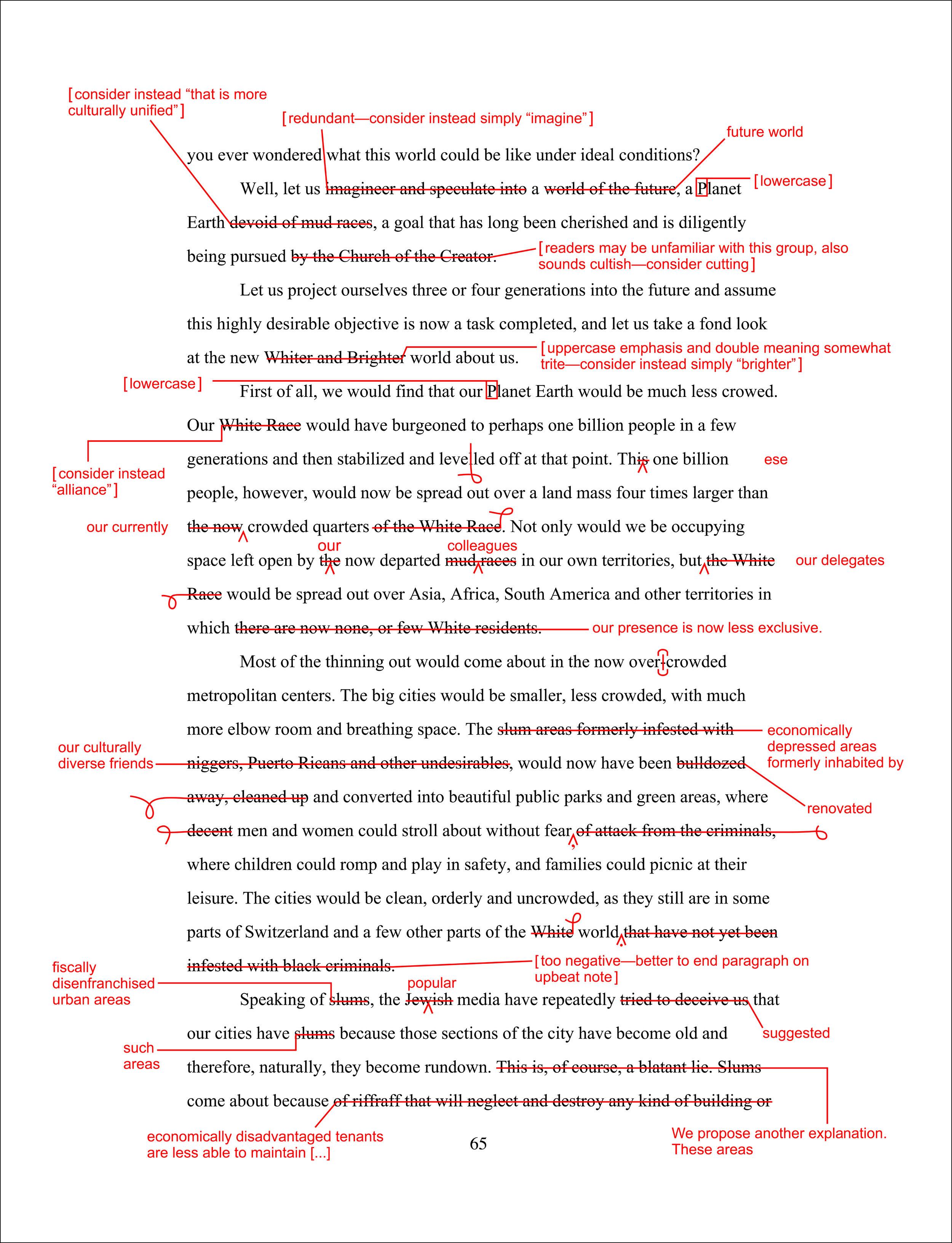Charles Gute. Whitewash Wordswap (An Excerpt), 2007
