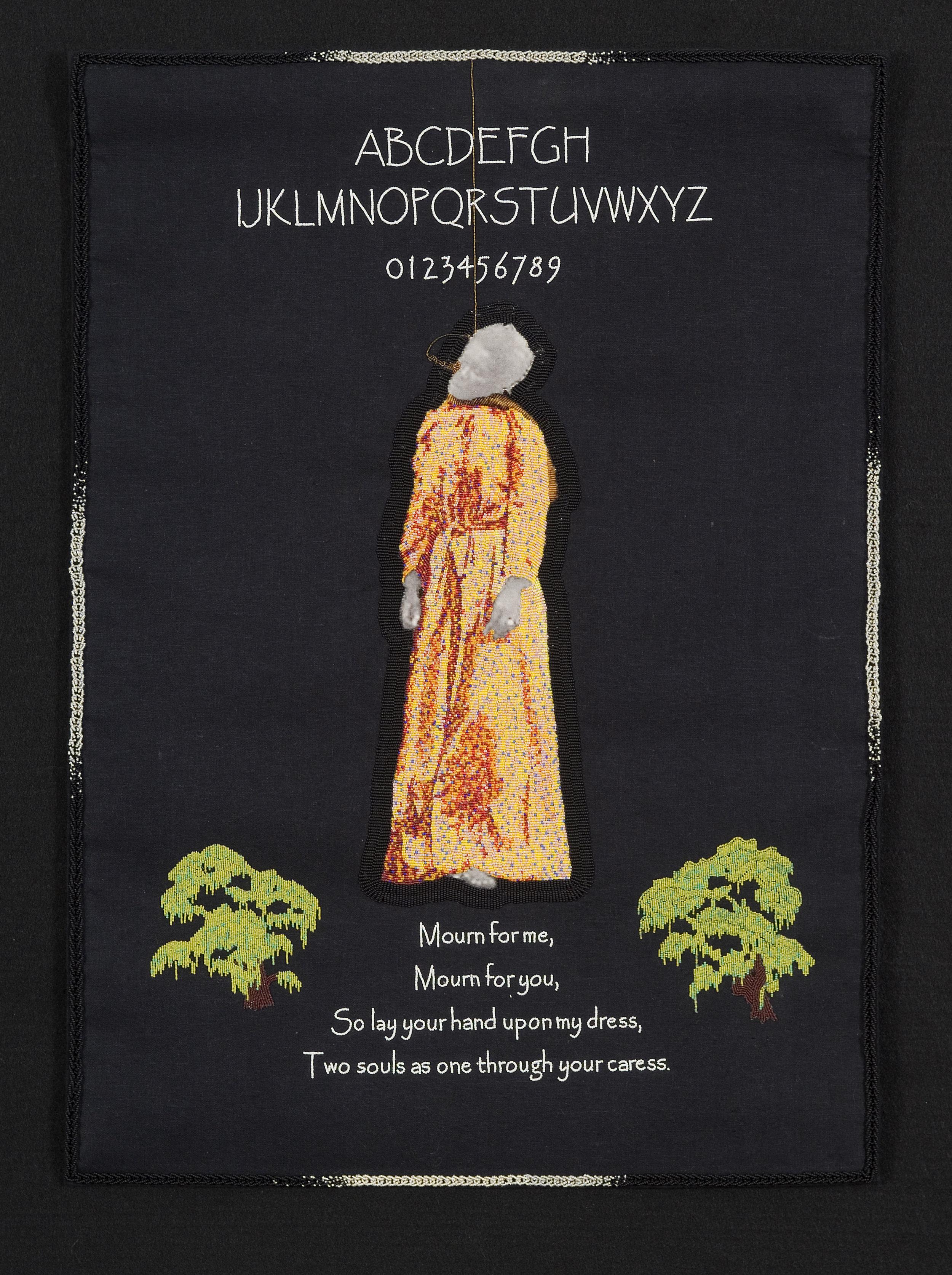 Scott Schuldt. Unbound, 2007. Beadwork, printed canvas