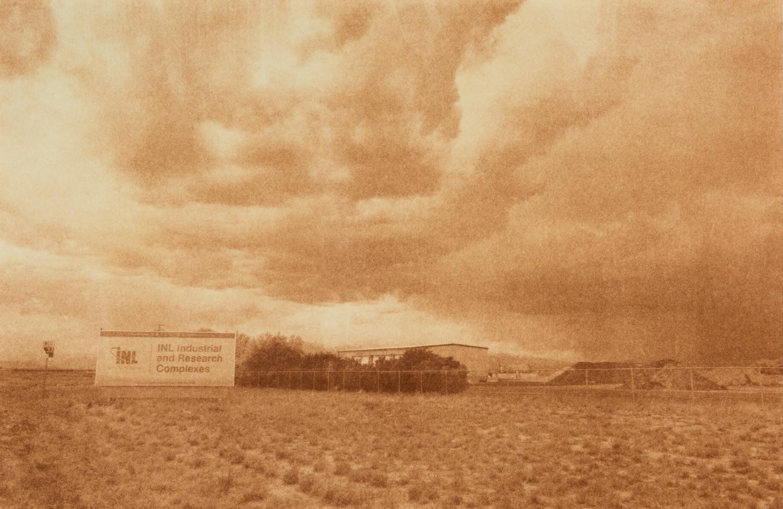 "Idaho National Labs, Idaho Falls, Idaho, Radioactive waste shipped to WIPP: 11,338,391 Gallons 2014, 9""x13"" Uranotype (uranium print)"