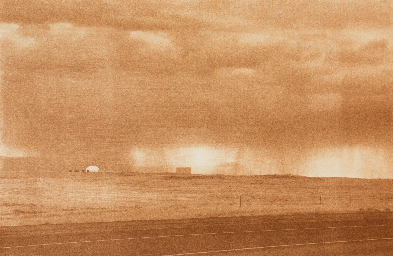 "Hanford Site 1, Hanford, Washington, Radioactive waste shipped to WIPP: 1,336,919 Gallons 2014, 9""x13"" Uranotype (uranium print)"