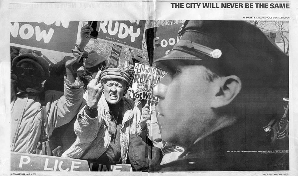 The Village Voice  spread. Meg Handler, Photo Editor.Photograph by Andrew Lichtenstein