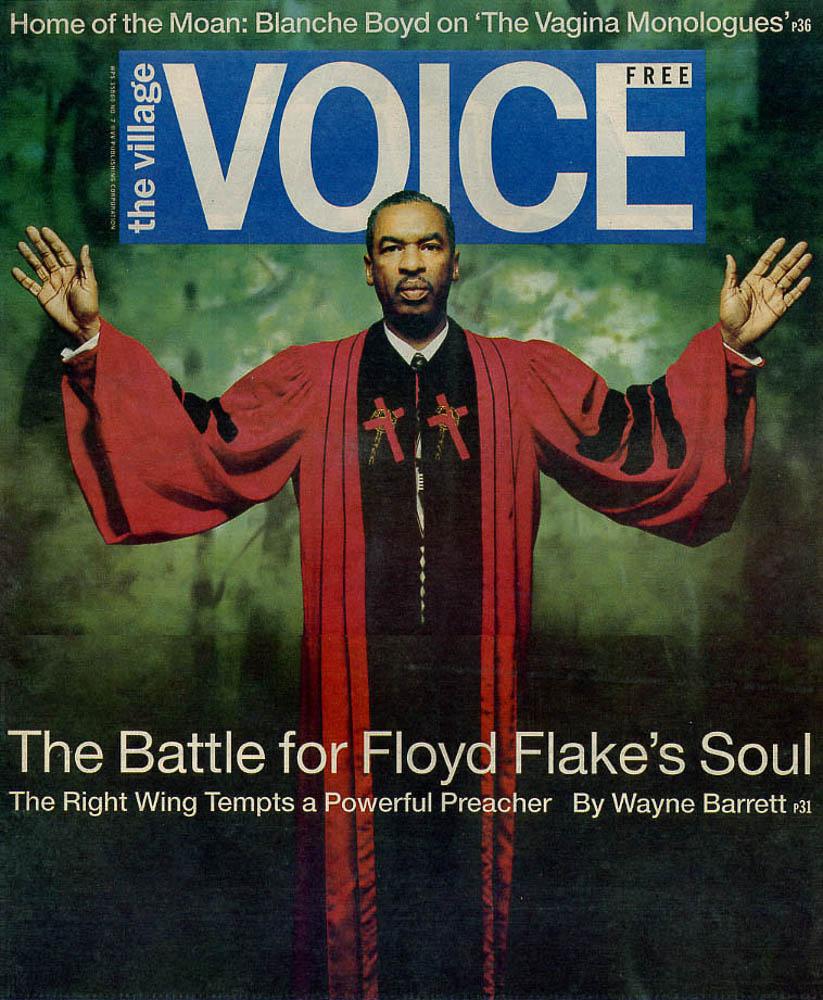 The Village Voice  cover. Meg Handler, Photo Editor.Photograph by Rafael Fuchs