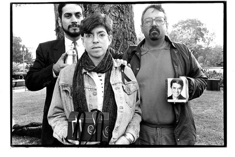 © Meg Handler, ACT UP, Ashes Action, Washington D.C., 1992.