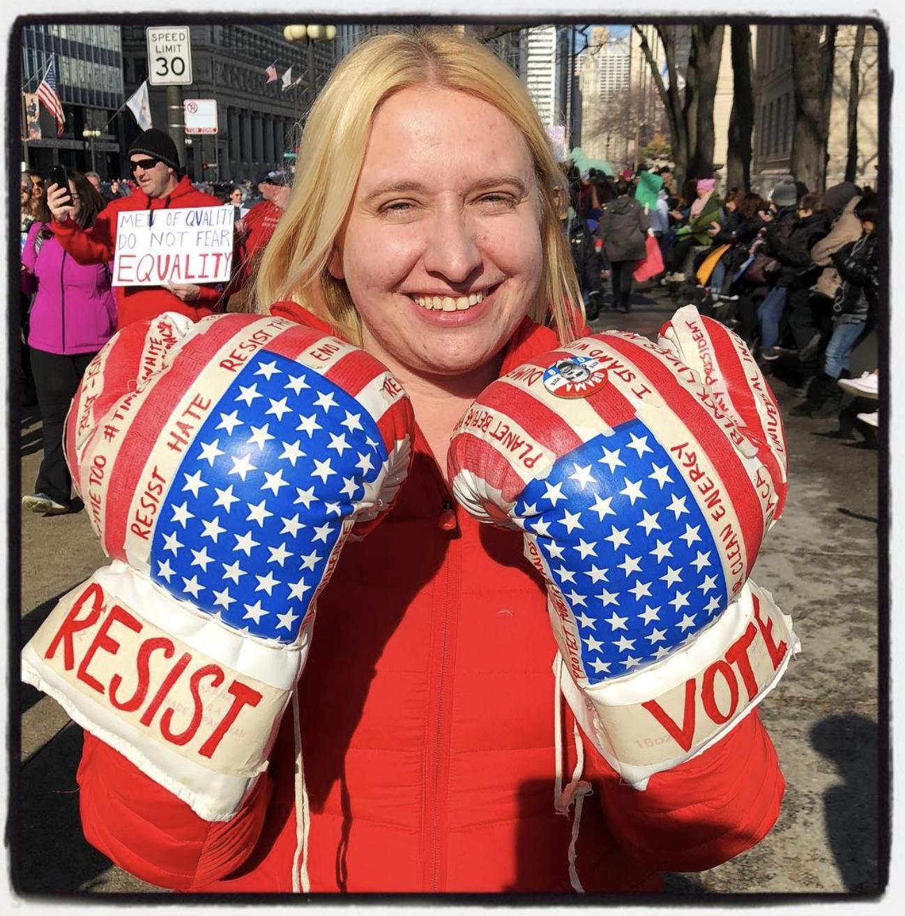 © Meg Handler, Women's March, Chicago, 2018
