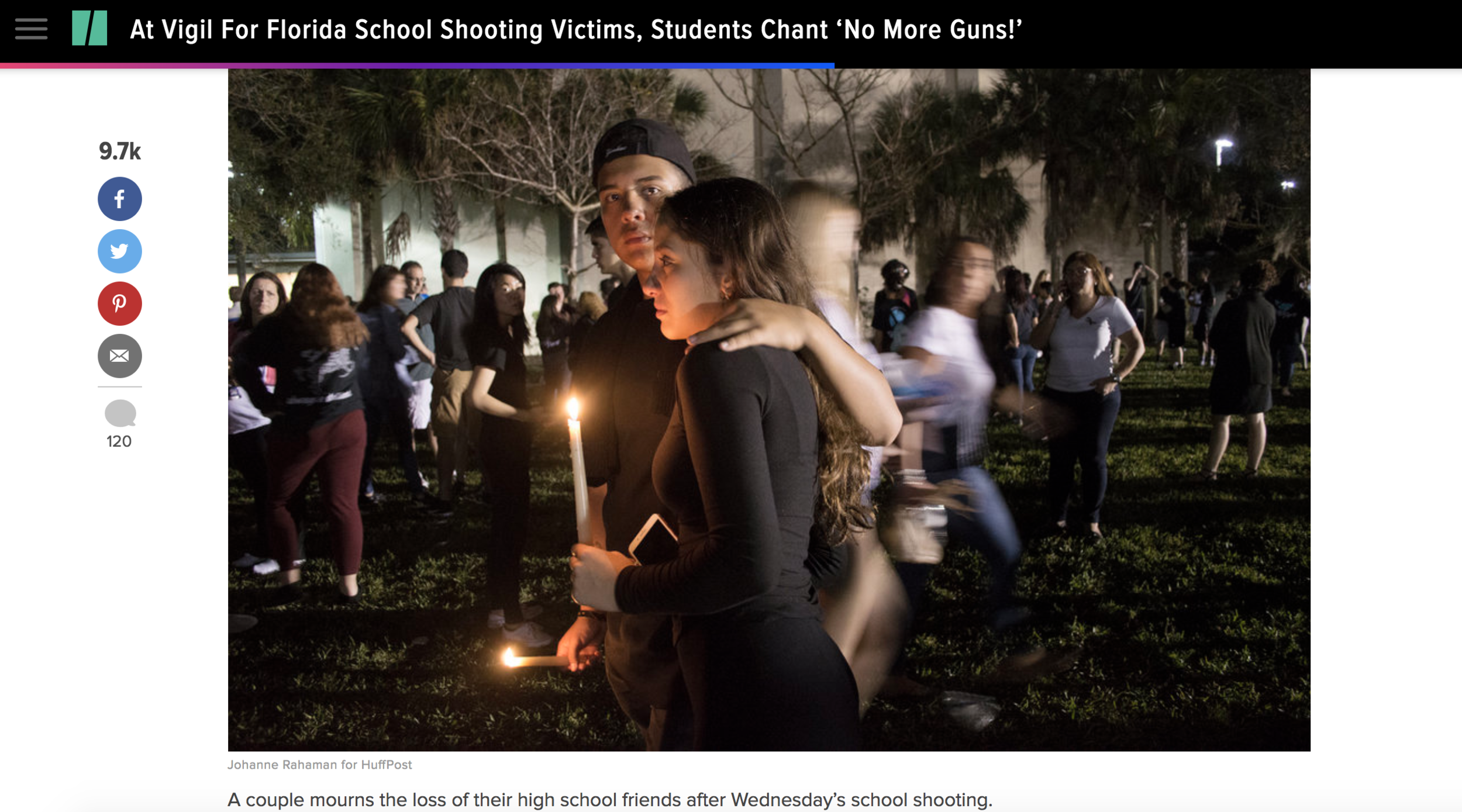Photographs in context on HuffPost