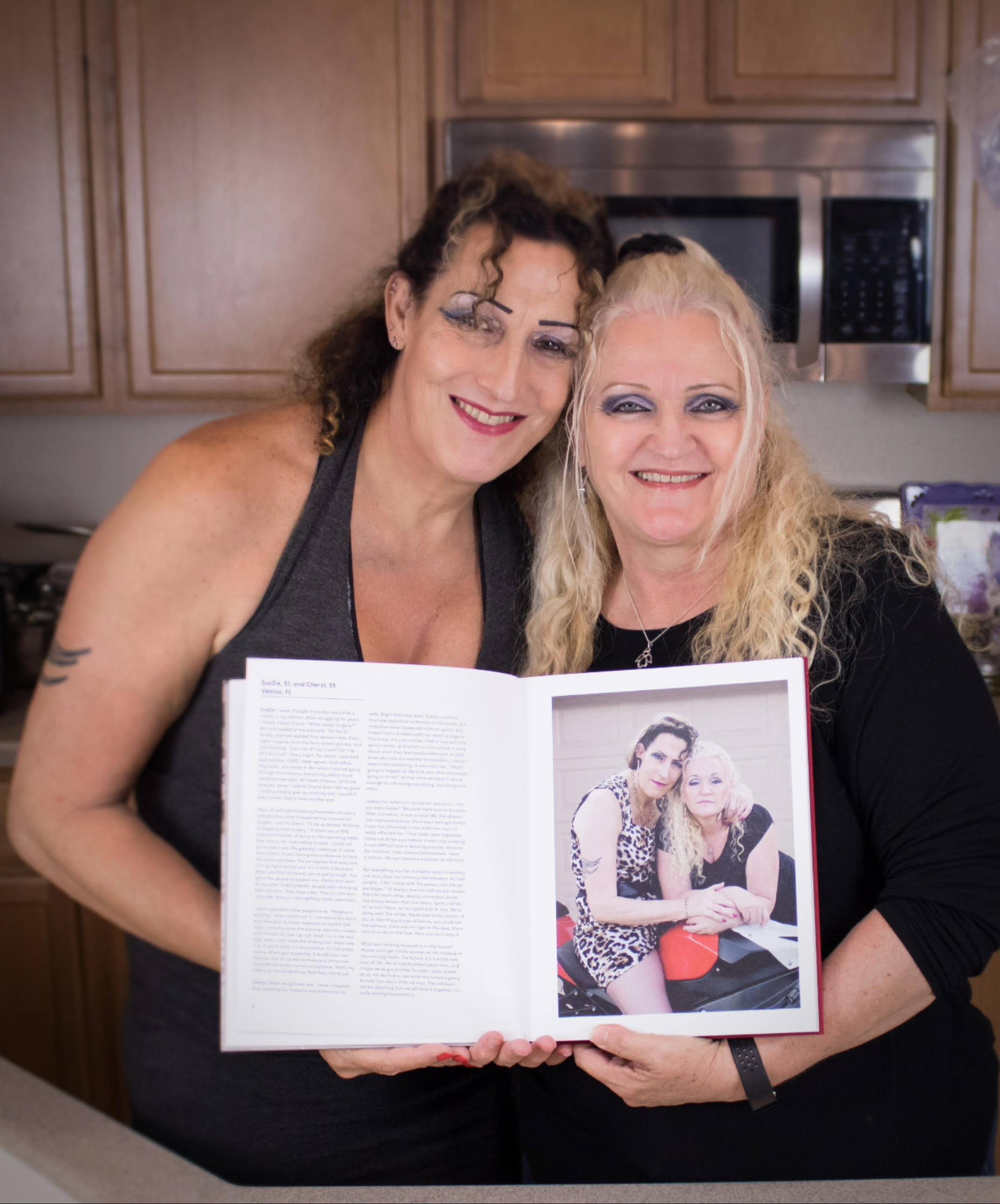 SueZie and Cheryl with their copy of the book
