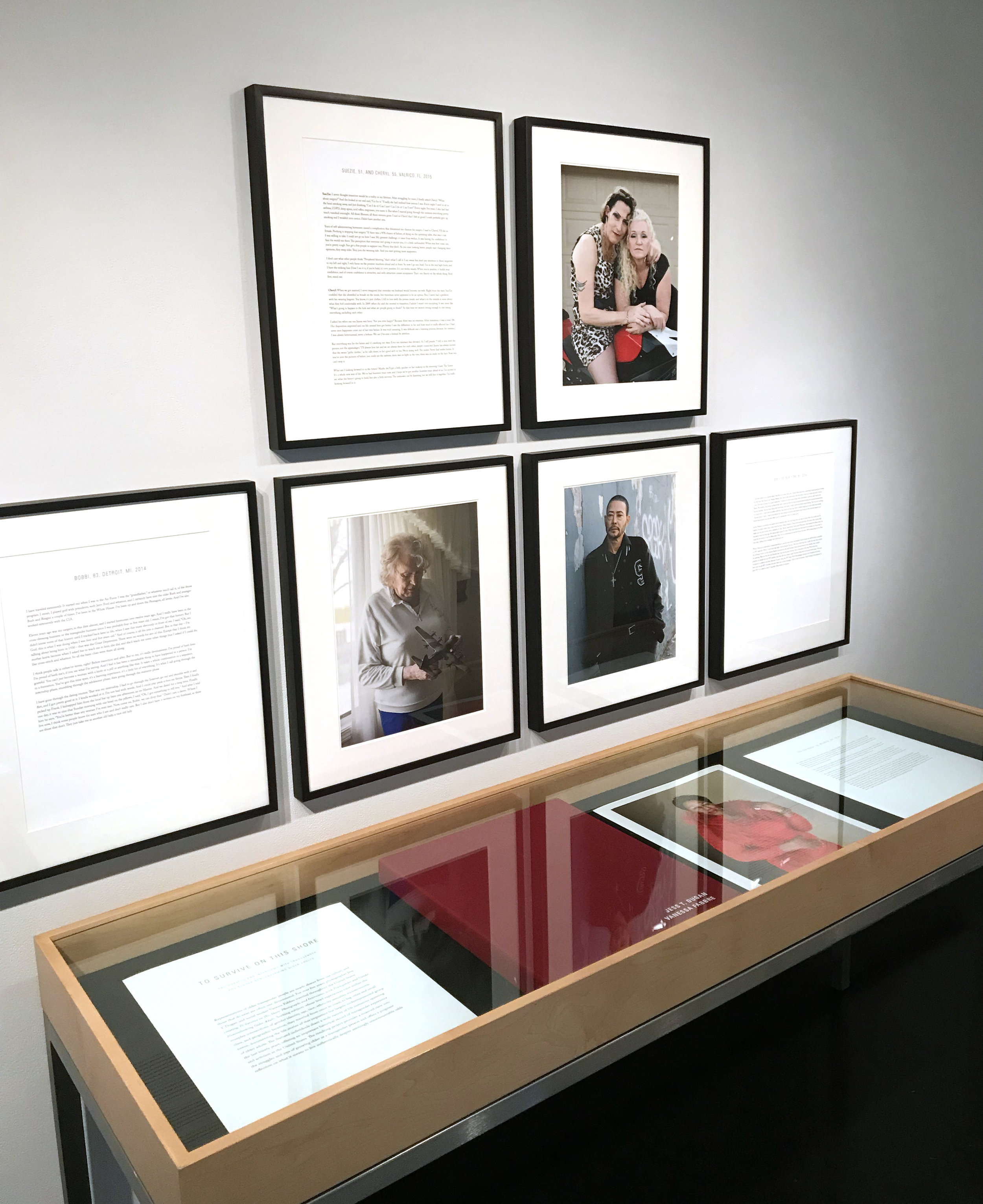 Installation view of the portfolio at the Tang Teaching Museum at Skidmore College, 2018