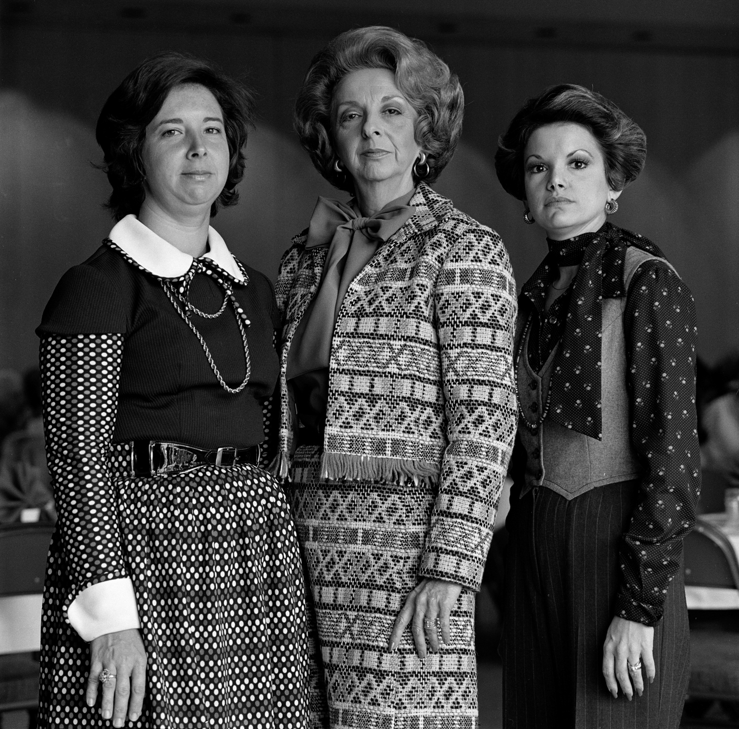 Mother and daughters, Jane Elise with Joan and Lynn, 1976