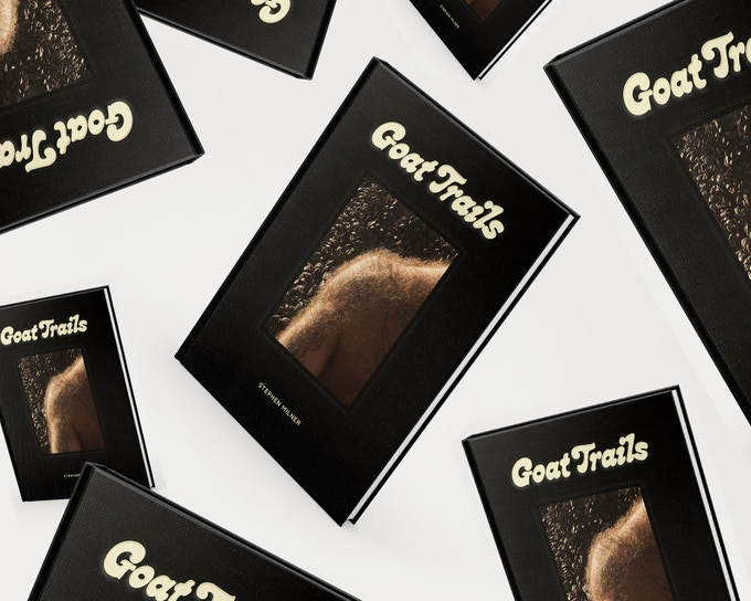 Goat Trails  by Stephen Milner Published by Aint-Bad 7x9 inches, 96 pages Hardcover, perfect bound, linen wrapped Ships March 2019