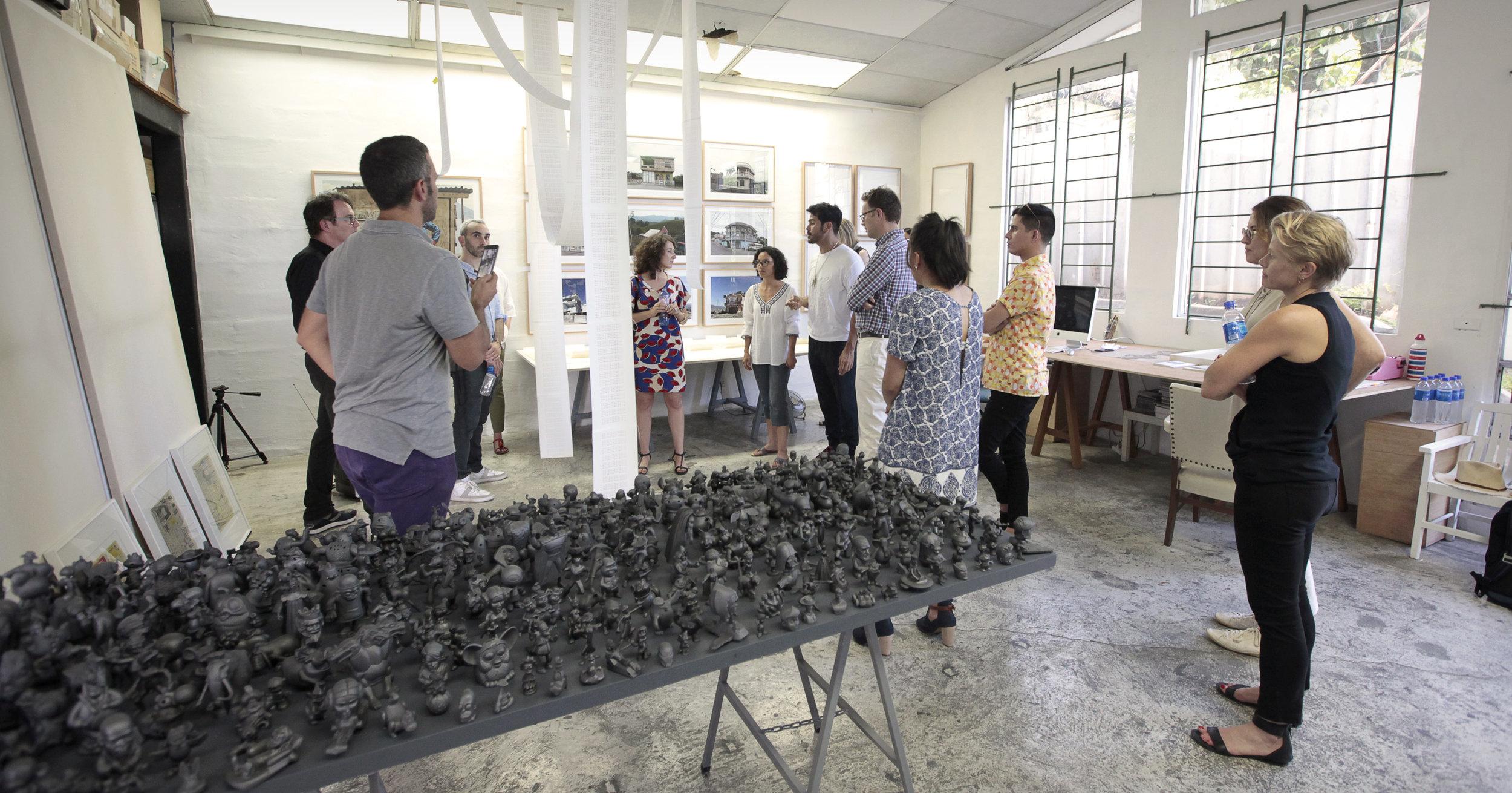 Walterio Iraheta and Abigail Reyes studio