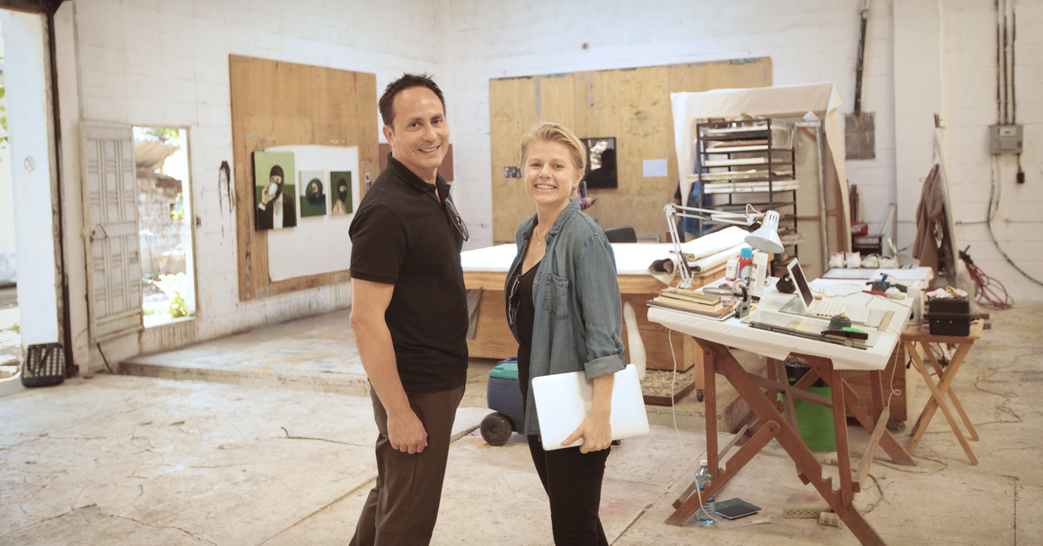 Mario Cader-Frech and Claire Breukel
