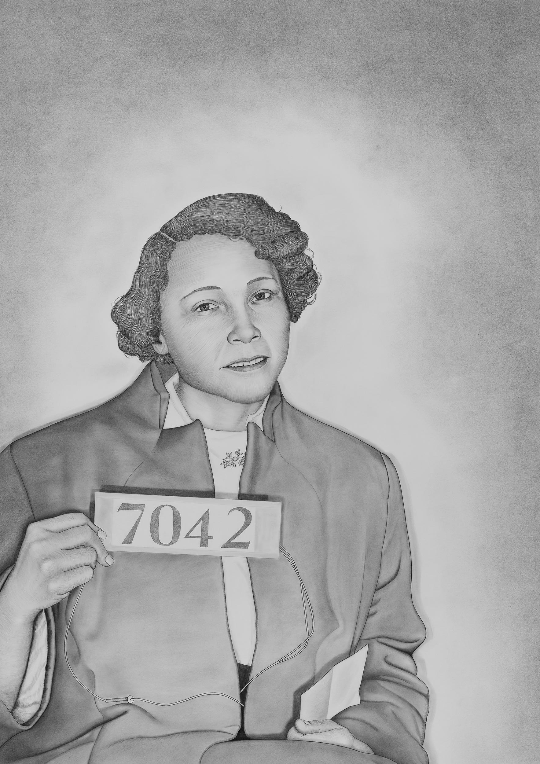 Jo Ann Robinson , 2018 Graphite and conté pencil on paper 33 1/4 x 47 in.