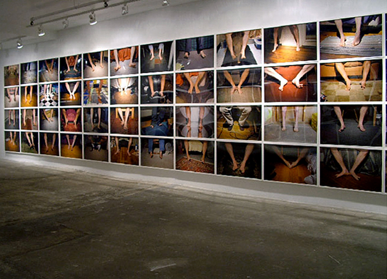 "Installation view of 100 framed prints, Samson Projects, Boston, MA. chromogenic prints each- 20"" x 30"" 2007"