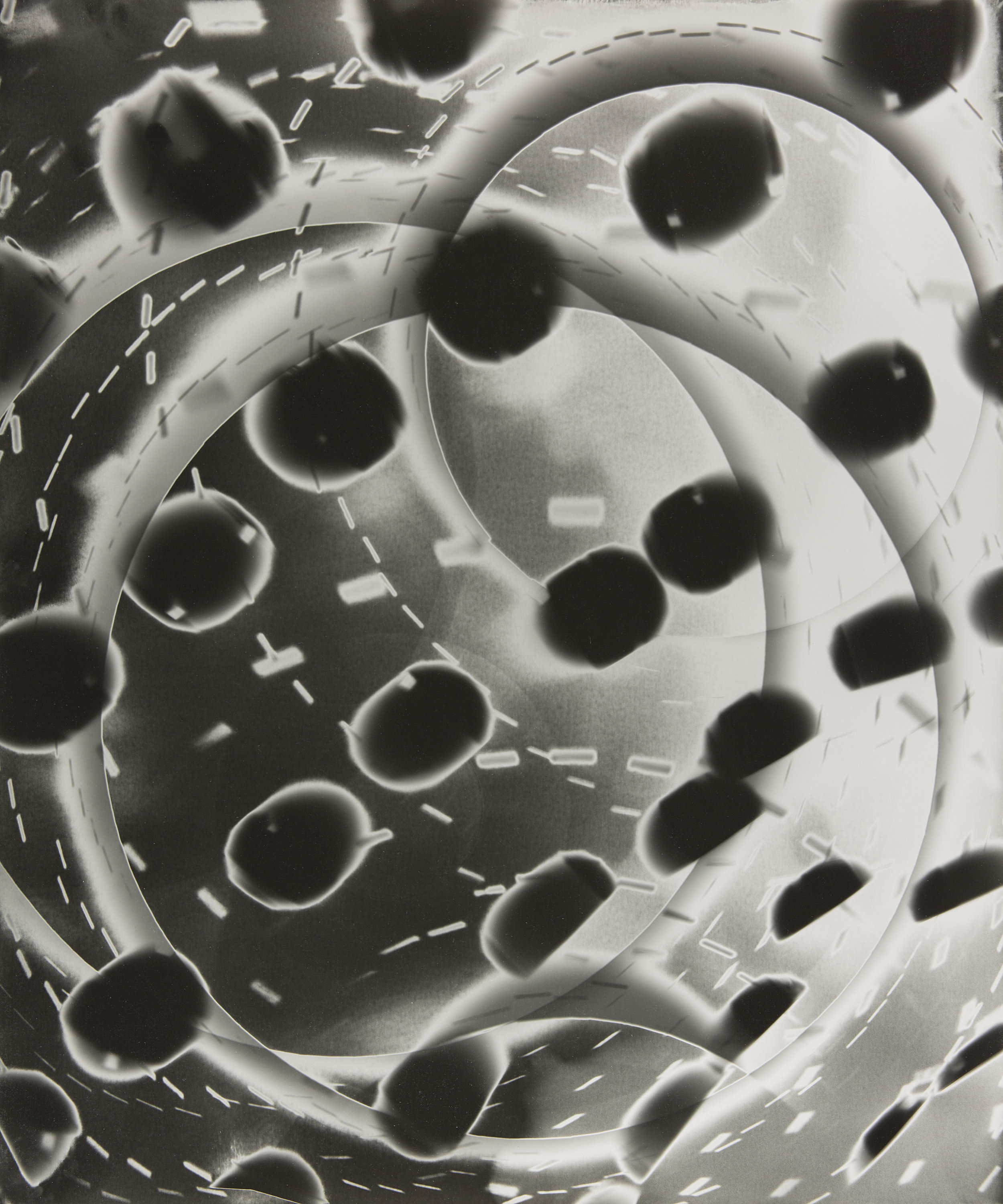 "Radial Projection (35),  unique silver gelatin print, 24"" x 20"", 2015"