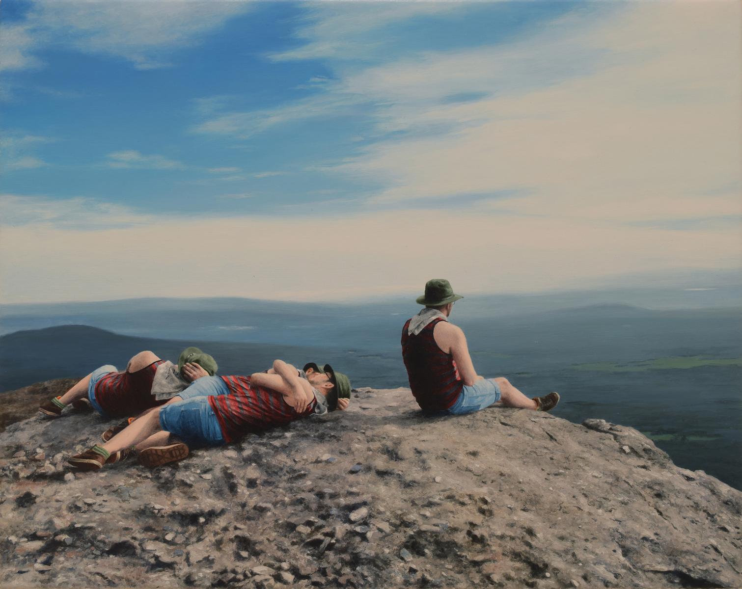 "Untitled (Catskill 2), 8""x10"" oil on canvas, 2018"