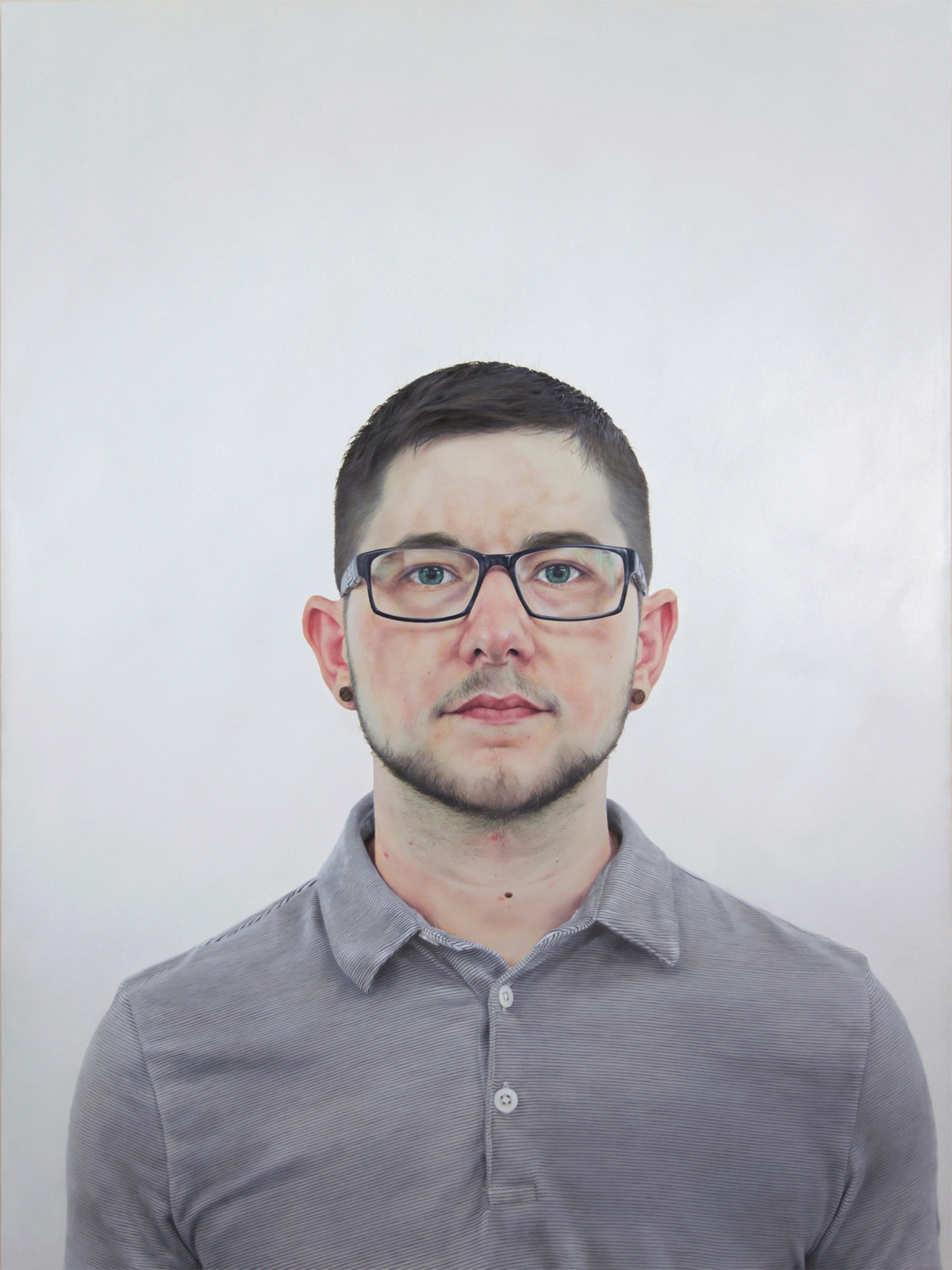 """Untitled (08-24-2015), oil on canvas, 40"""" x 30"""", 2016"""
